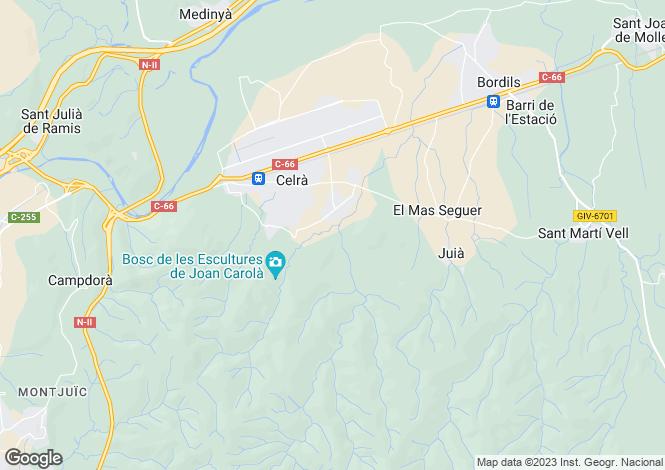 Map for Spain, Cataluña, Girona, Celrà