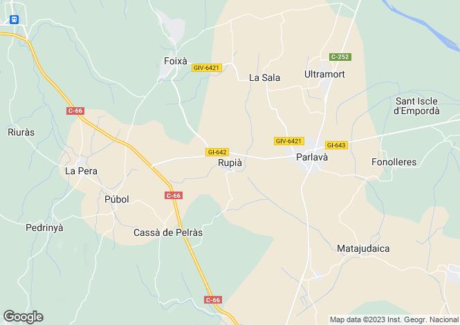 Map for Catalonia, Girona, Rupia