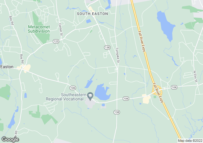 Map for USA - Massachusetts, Easton