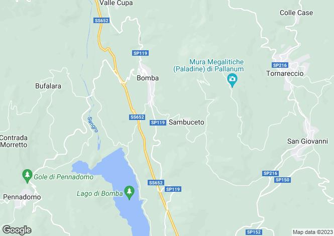 Map for Abruzzo, Chieti, Bomba