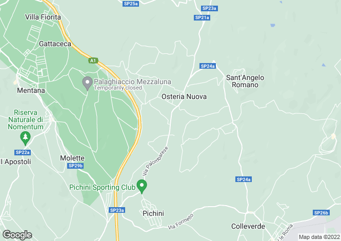 Map for Italy - Lazio, Rome