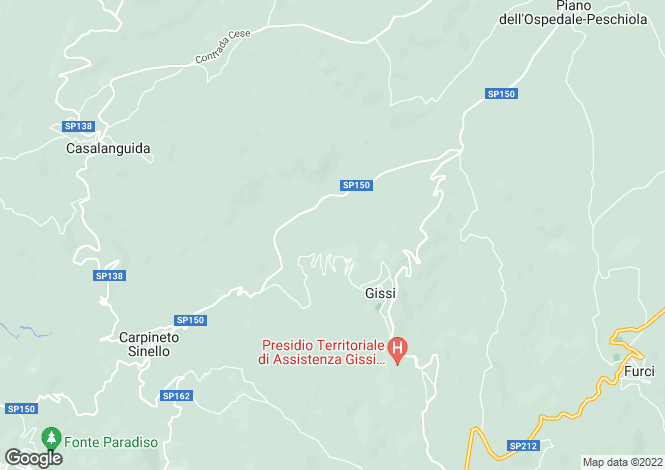Map for Abruzzo, Chieti, Gissi