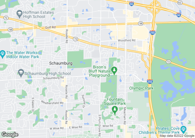 Map for USA - Illinois, Cook County, Schaumburg