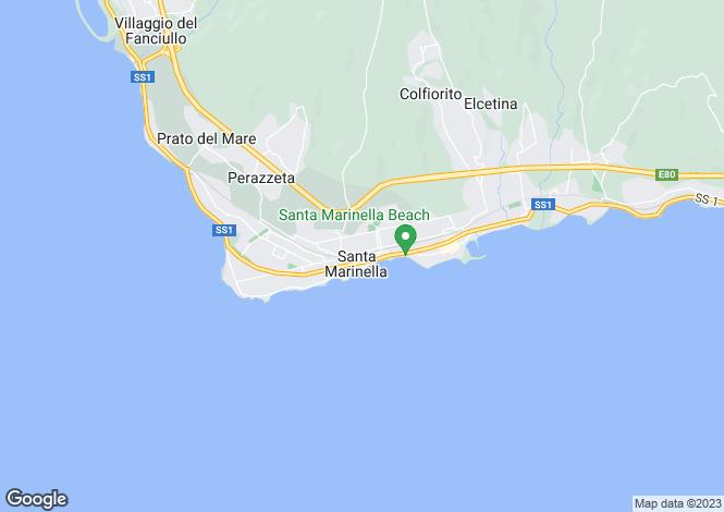 Map for Santa Marinella, Rome, Lazio