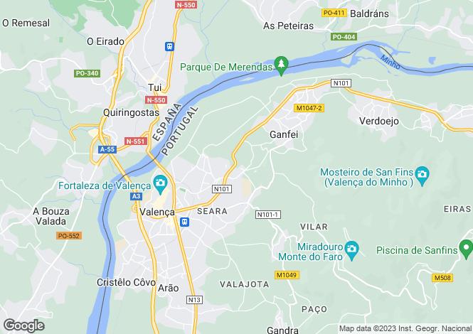 Map for Portugal,Viana do Castelo,Valença
