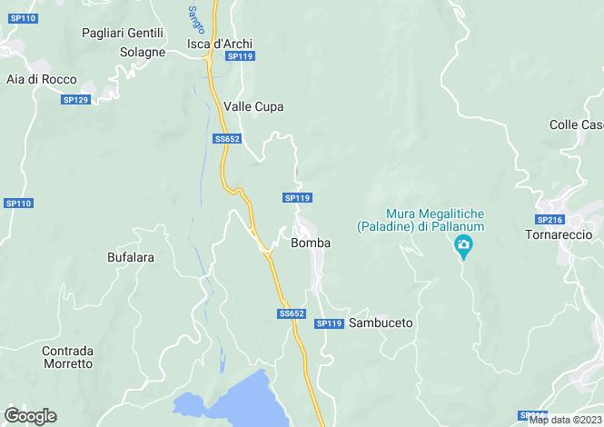 Map for Bomba, Chieti, Abruzzo