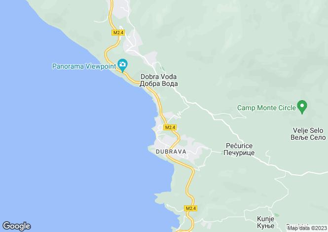 Map for Dobra Voda, Bar, Montenegro