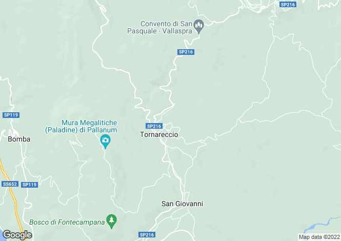 Map for Tornareccio, Chieti, Abruzzo
