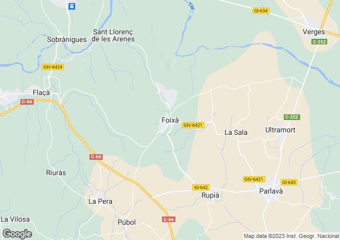 Map for Foixa, Girona, Catalonia