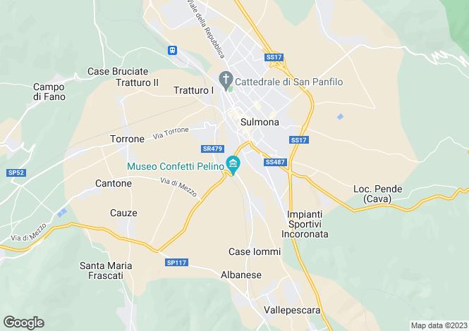 Map for Abruzzo, L`Aquila, Sulmona