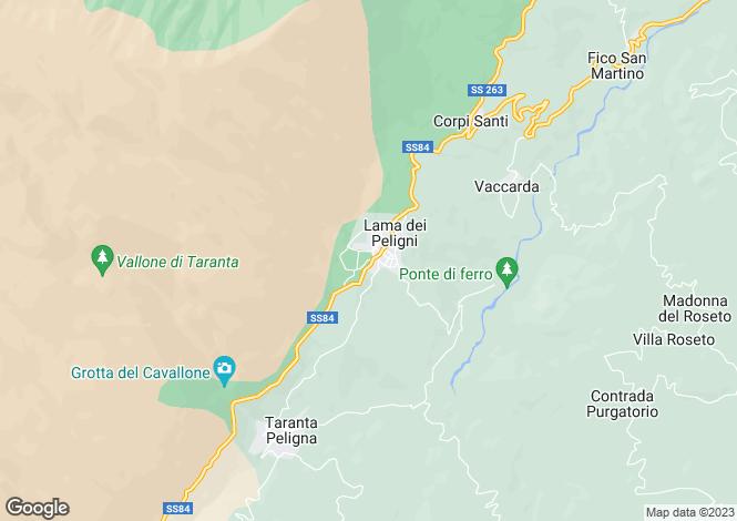 Map for Abruzzo, Chieti, Lama Dei Peligne