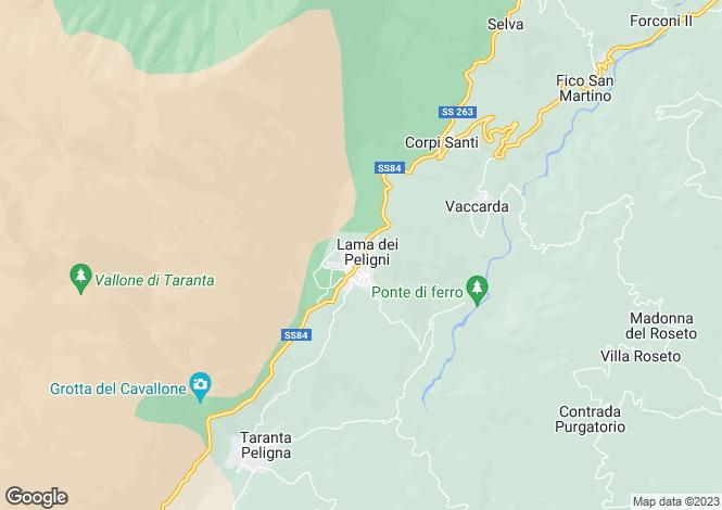 Map for Lama, Chieti, Abruzzo