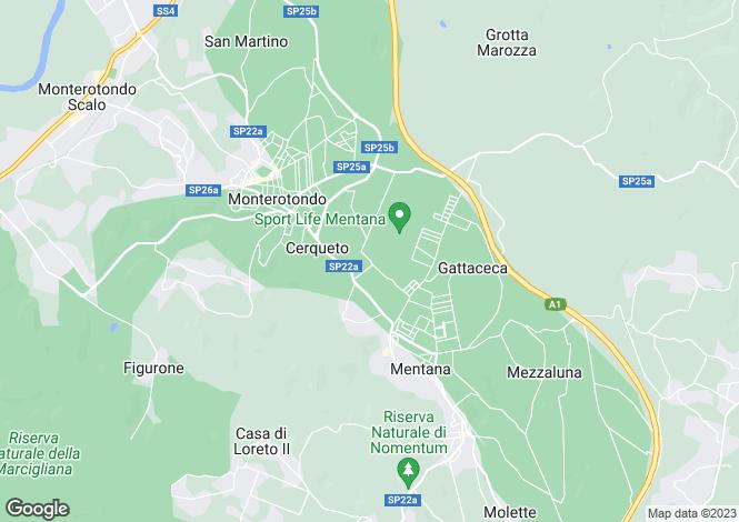 Map for Lazio, Rome, Mentana