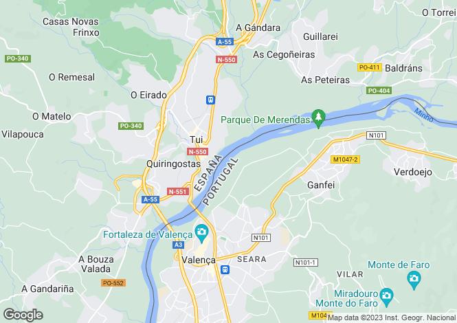 Map for Galicia, Pontevedra, Tomiño