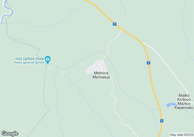 Map for Melnitsa, Yambol