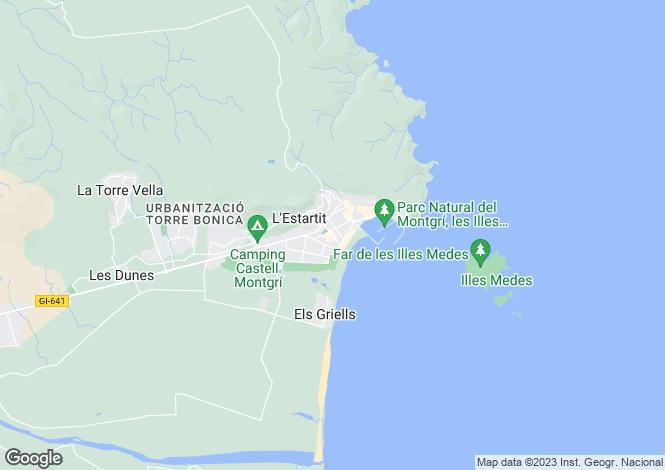 Map for Catalonia, Girona, L'Estartit