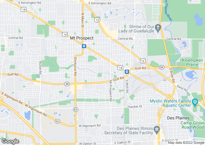 Map for USA - Illinois, Cook County, Mount Prospect