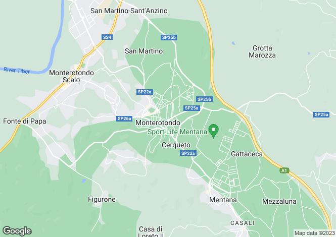 Map for Lazio, Rome, Monterotondo