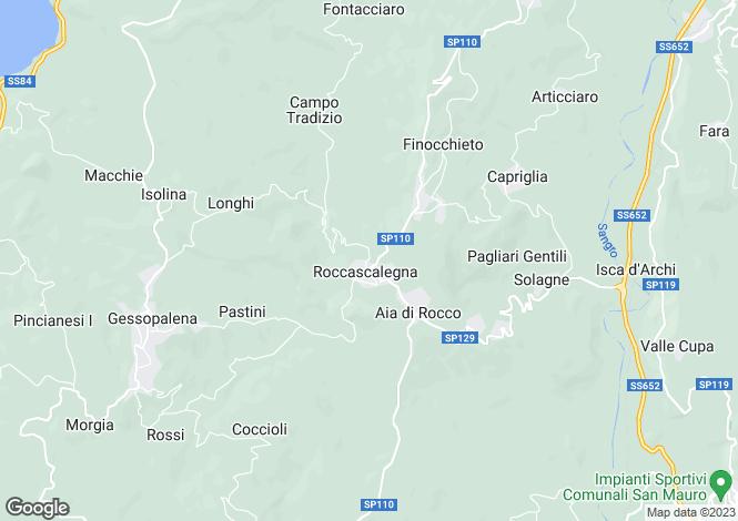 Map for Abruzzo, Chieti, Roccascalegna