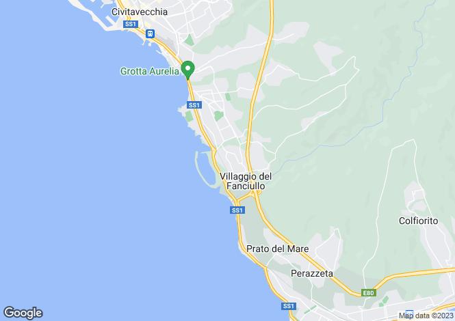 Map for Lazio, Rome, Civitavecchia