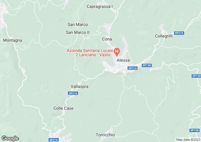 Map for Abruzzo, Chieti, Atessa