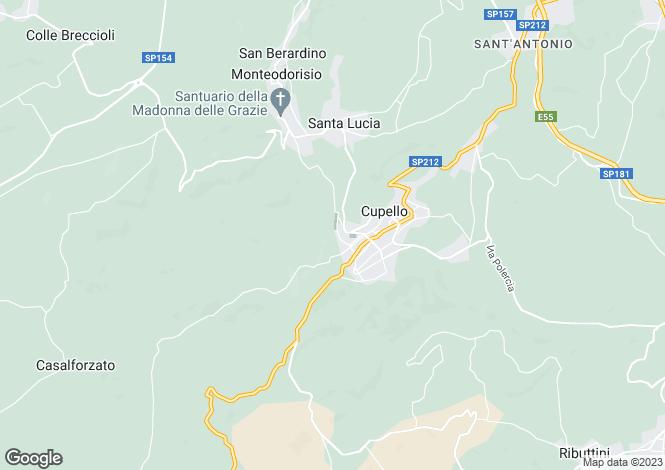 Map for Cupello, Chieti, Abruzzo