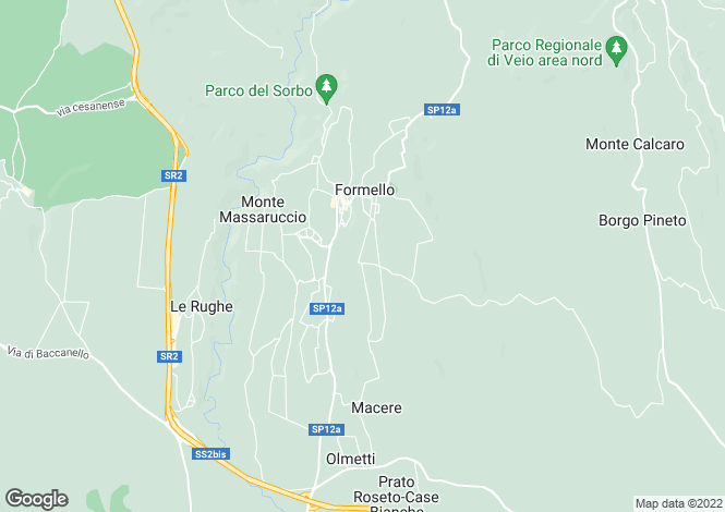 Map for Formello, Rome, Lazio