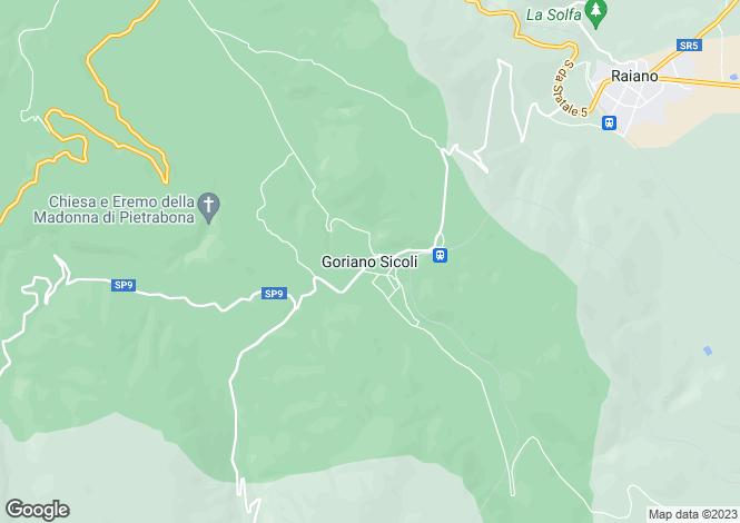 Map for Abruzzo, Laquila, Goriano Sicoli