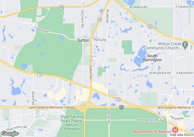 Map for USA - Illinois, Cook County, South Barrington