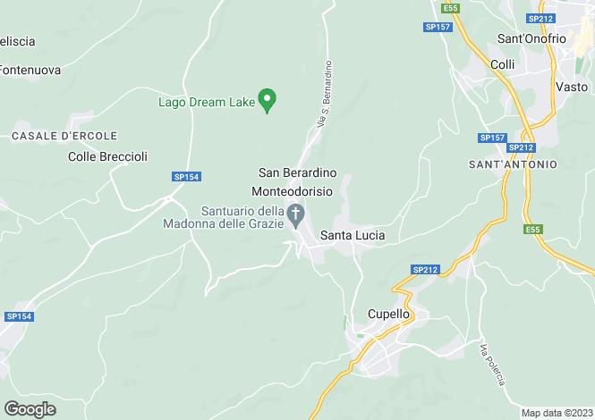 Map for Abruzzo, Chieti, Monteodorisio