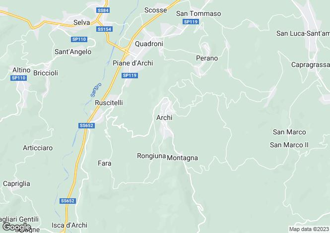 Map for Archi, Chieti, Abruzzo
