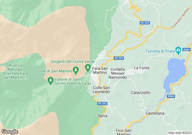 Map for Fara San Martino, Chieti, Abruzzo