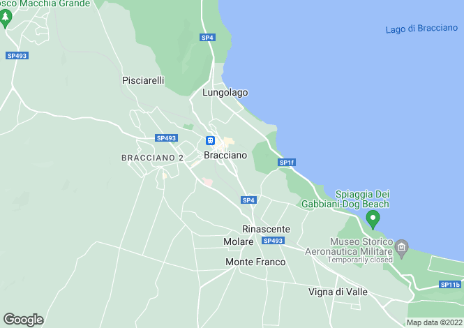 Map for Lazio, Rome, Bracciano