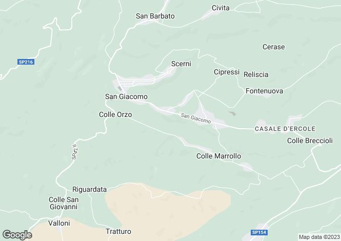 Map for Abruzzo, Chieti, Scerni