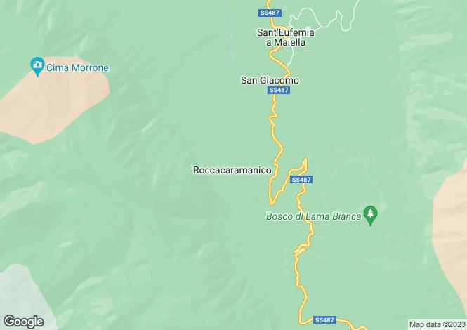 Map for Abruzzo, Pescara, Roccacaramanico