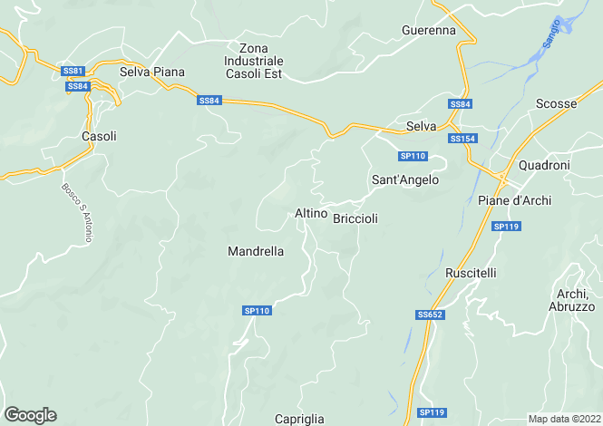 Map for Altino, Abruzzo, Italy