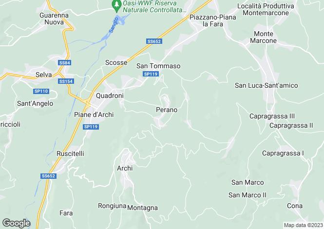 Map for Perano, Chieti, Abruzzo