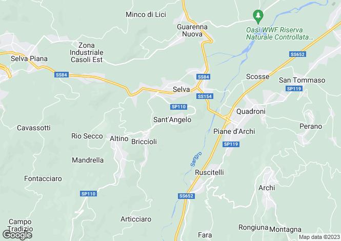 Map for Altino, Chieti, Abruzzo