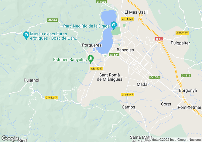 Map for Porqueres, Girona, Spain