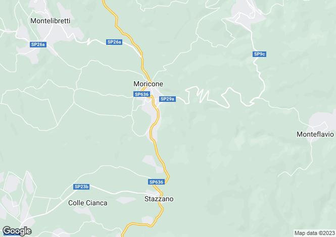 Map for Moricone, Rome, Lazio