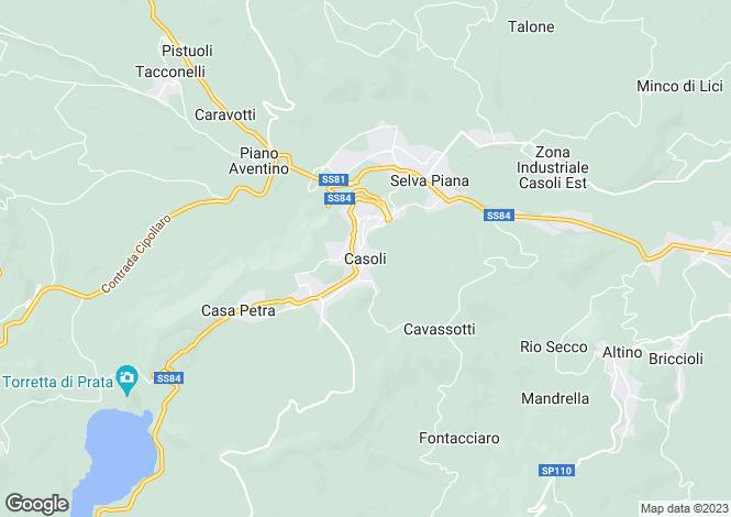 Map for Abruzzo, Chieti, Casoli