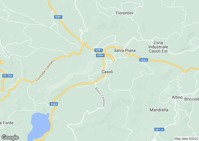 Map for Casoli, Abruzzo, Italy