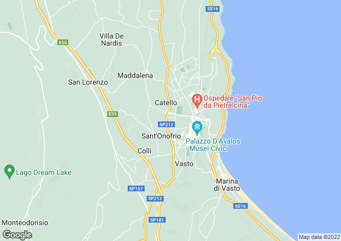 Map for Vasto, Chieti, Abruzzo
