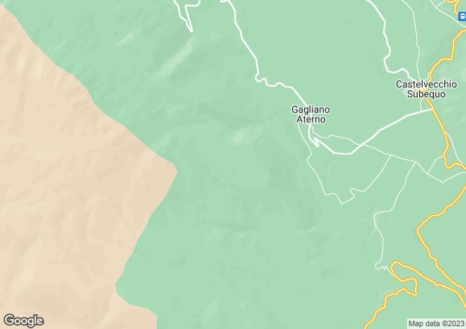 Map for Abruzzo, L`Aquila, Gagliano Aterno