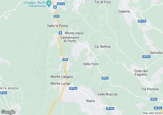 Map for Castelnuovo di Porto, Rome, Lazio