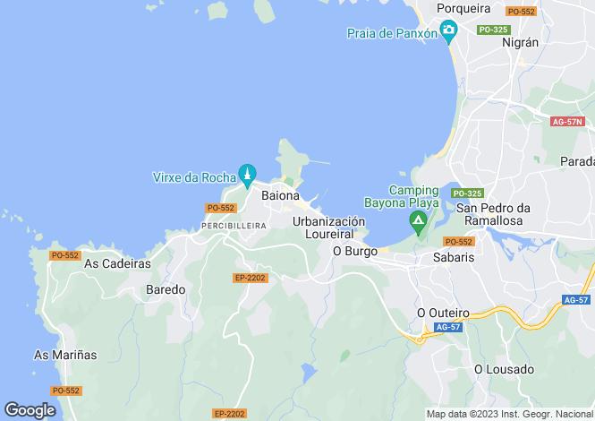 Map for Baiona, Pontevedra, Galicia