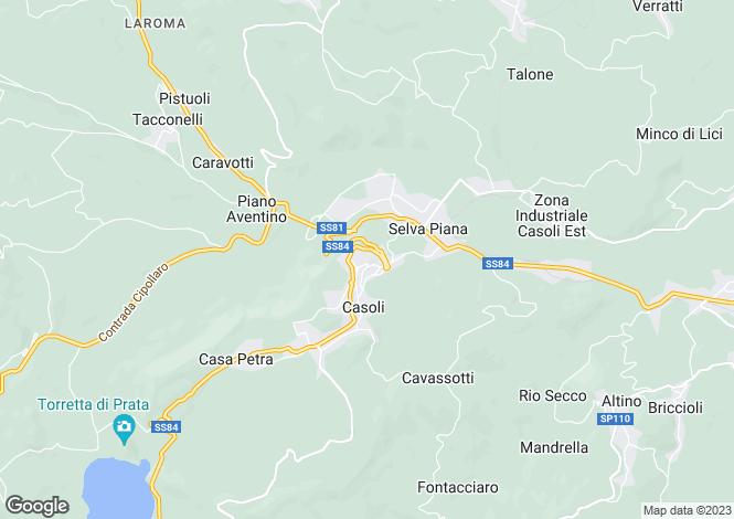 Map for Casoli, Chieti, Abruzzo