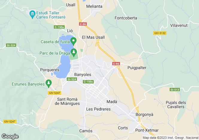 Map for Catalonia, Girona, Banyoles