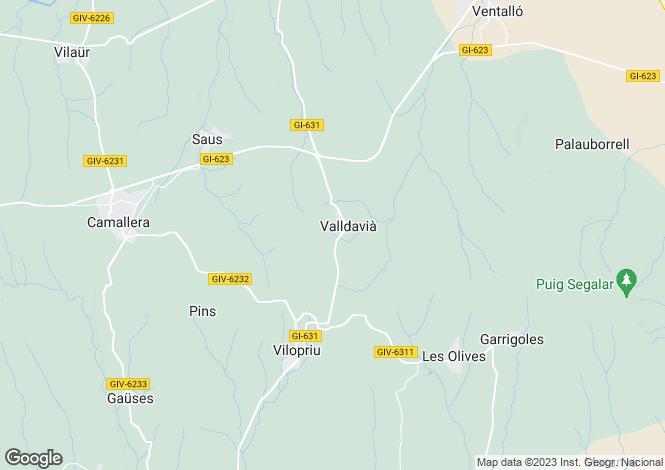 Map for Catalonia, Girona, Girona