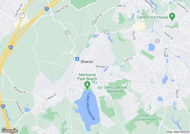 Map for USA - Massachusetts, Norfolk County, Sharon